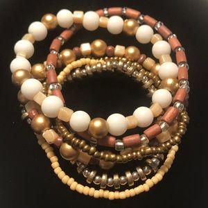 Jewelry - Two-Tone Stretch Bracelet Set